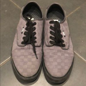 Vans gray checker pro ultra crush lite 10.5 shoes